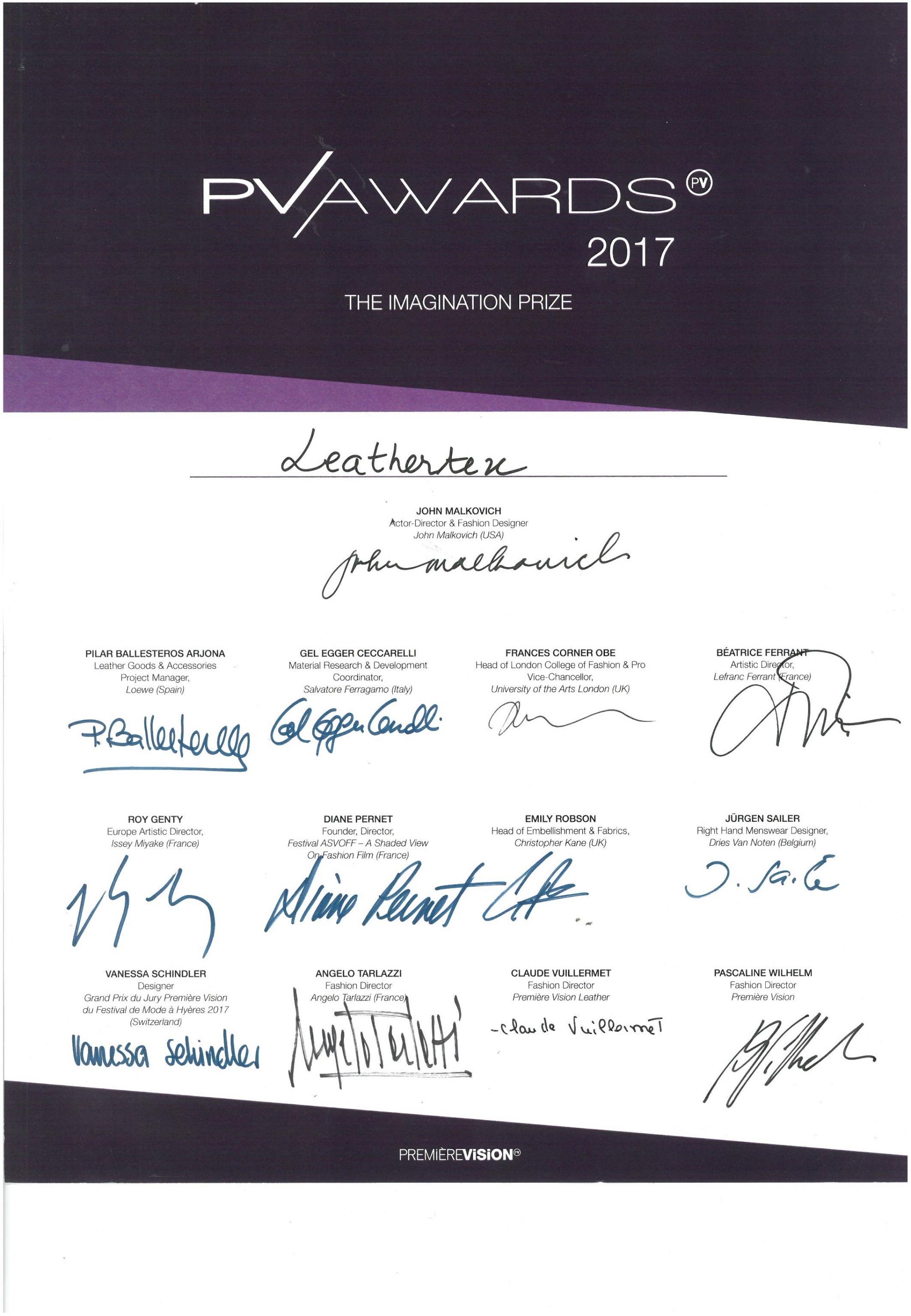 PV Awards 2017