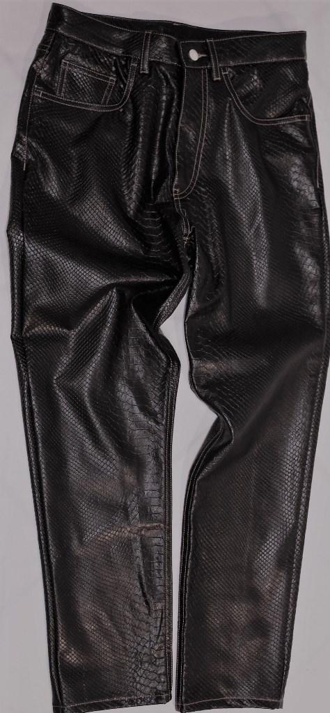 Pantalone 5 tasche effetto pitone 50088 140 4