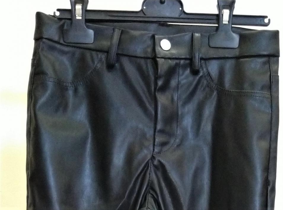 Pantalone 5 tasche ecopelle bi-strecht mano nappata gradevole