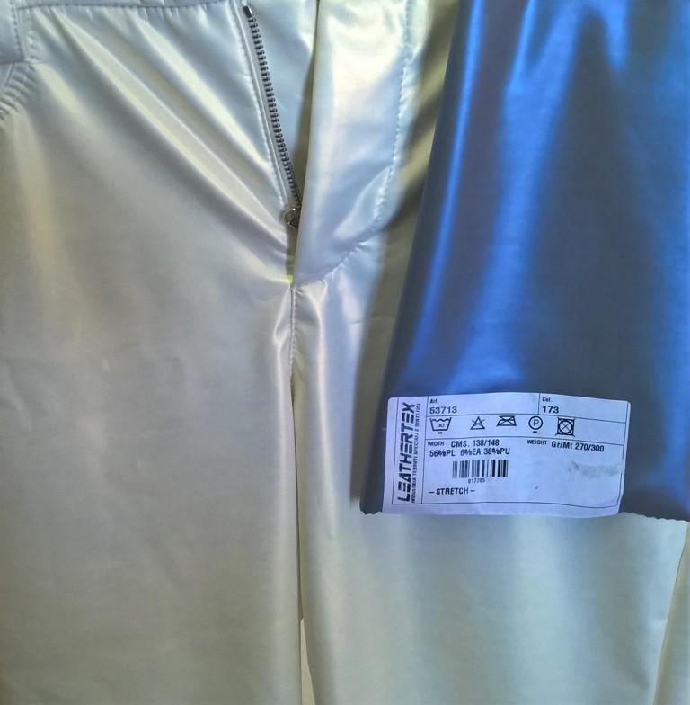 Bi-stretch soft Polyurethane Leggings with iridescent effect