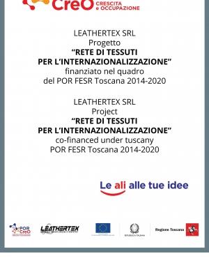 Progetto di Internazionalizzazione Rete di tessuti per l'internazionalizzazione