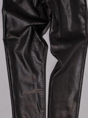 Pantalone Ecopelle Stampa Effetto Pitone